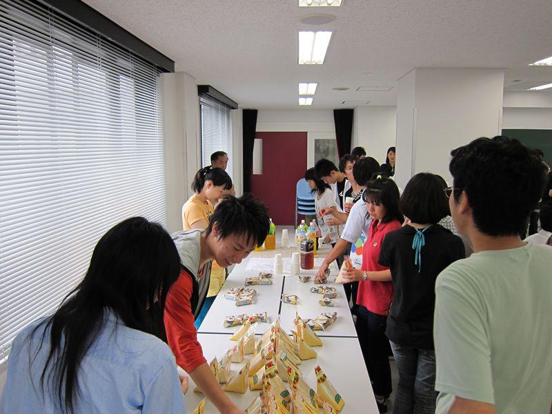 実験の後の会食